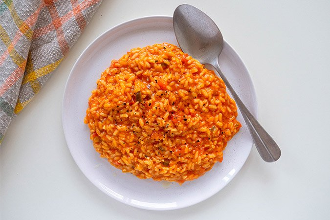 """Featured image for """"Tomaten Paprika Risotto"""""""